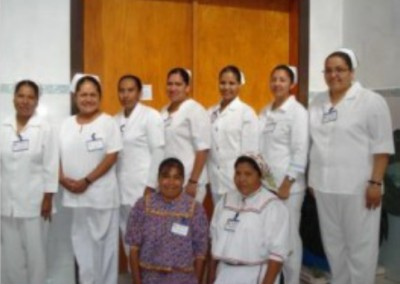The hospital staff and volunteers