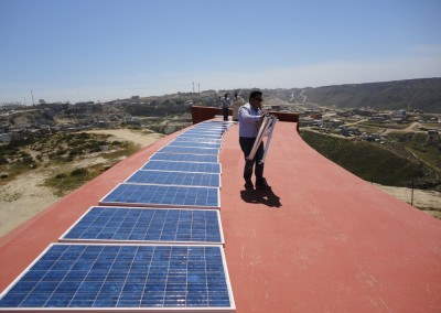 Casa Manresa now has solar panels for alternative energy.